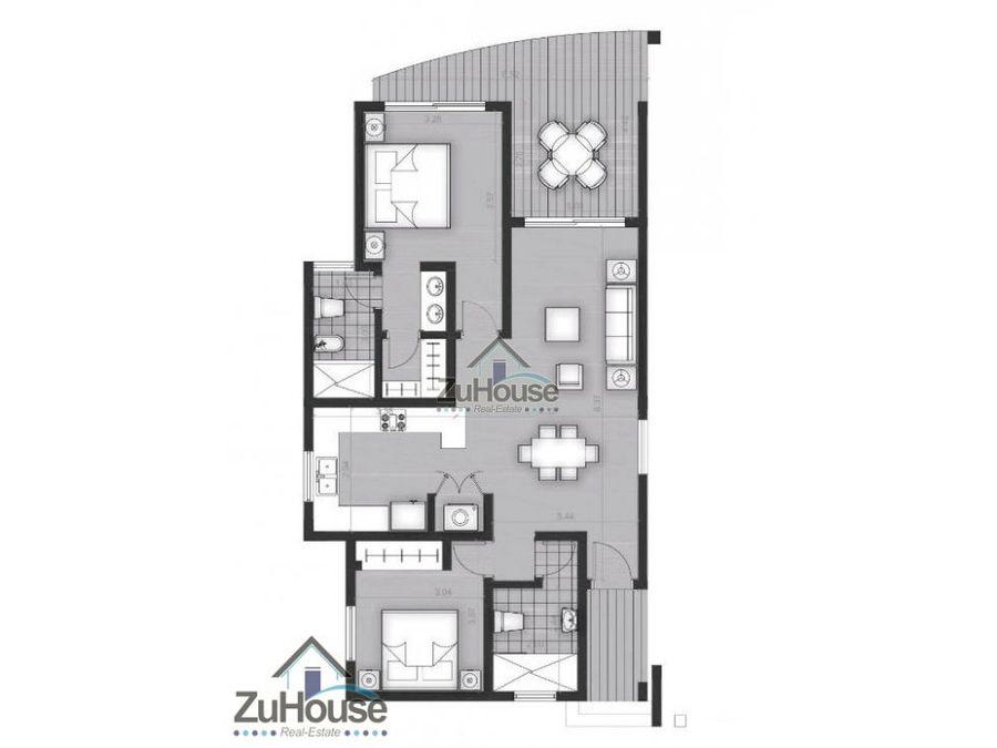 apartamento en venta en punta cana wpa76 d