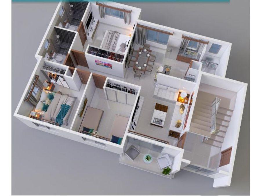 apartamento en venta en res con piscina en la barranquita wpa56 b