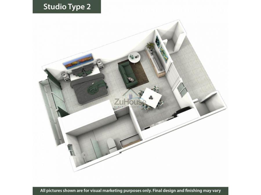 apartaestudio en venta en 2do nivel en sosua wpa70 b
