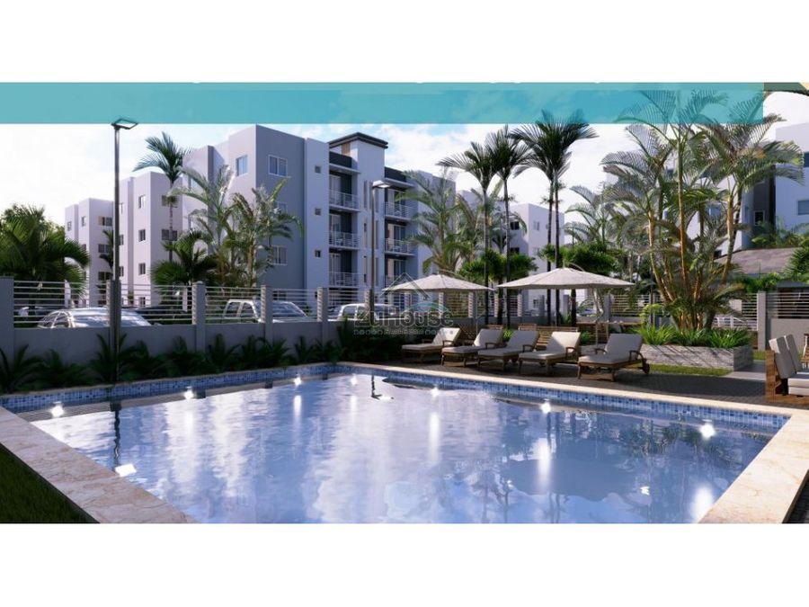 apartamento en venta en res con piscina en carretera licey wpa32 b