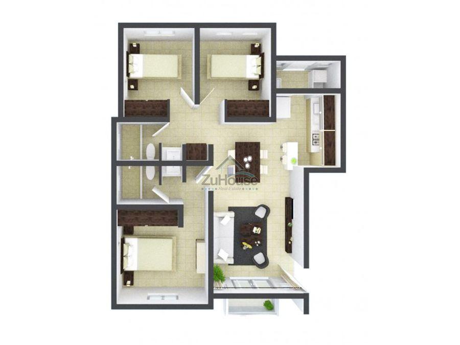 apartamento en venta cerro alto santiago za16 b