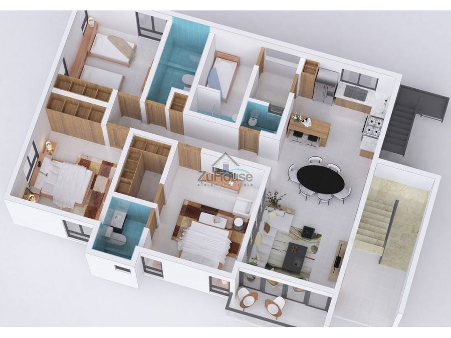 apartamento en venta reparto consuelo stgo za23 f