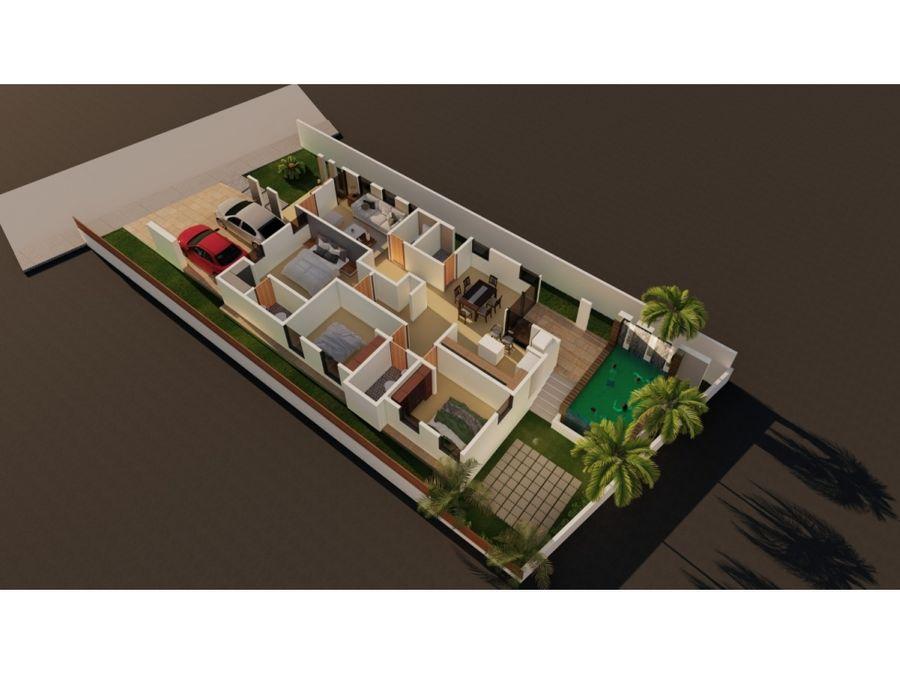 casa en venta con piscina en gurabo santiago wpc07 a