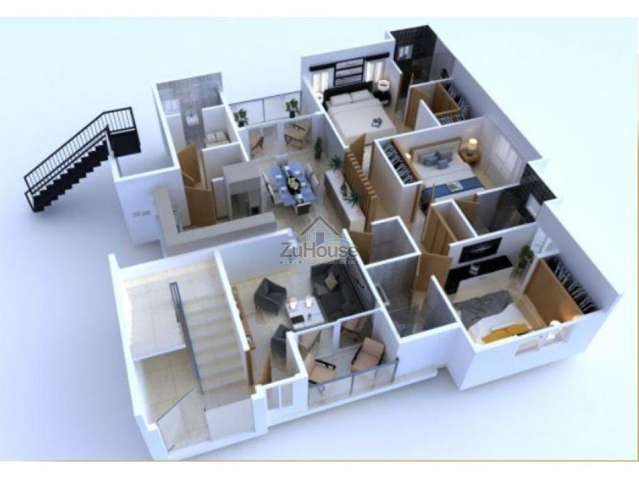 apartamentos en venta con cuarto de servicio en gurabo santiago wpa15e