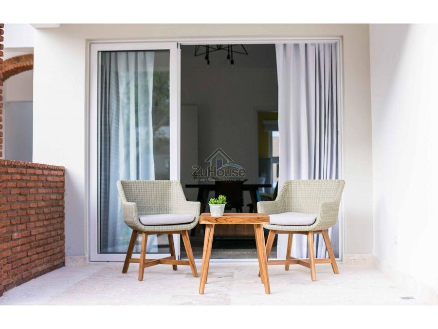 apartamento en venta con gran terraza en bavaro punta cana wpa97 d