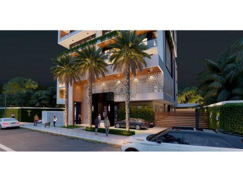 apartamentos con cocina equipada en torre en planos en santiago za05c