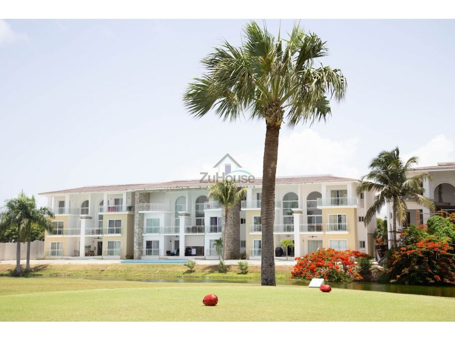 apartamento en venta con vista a golf punta cana wpa18 b