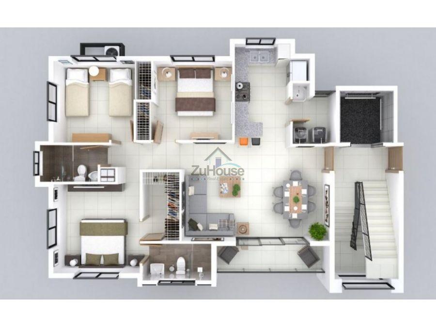 apartamento en venta en santiago wpa98 c