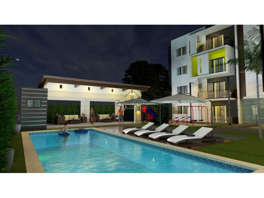 apartamentos en venta en planos en res con piscina en gurabo wpa22b1
