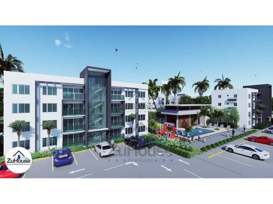 apartamento en venta en 4to nivel con azotea excl en gurabo za02 c