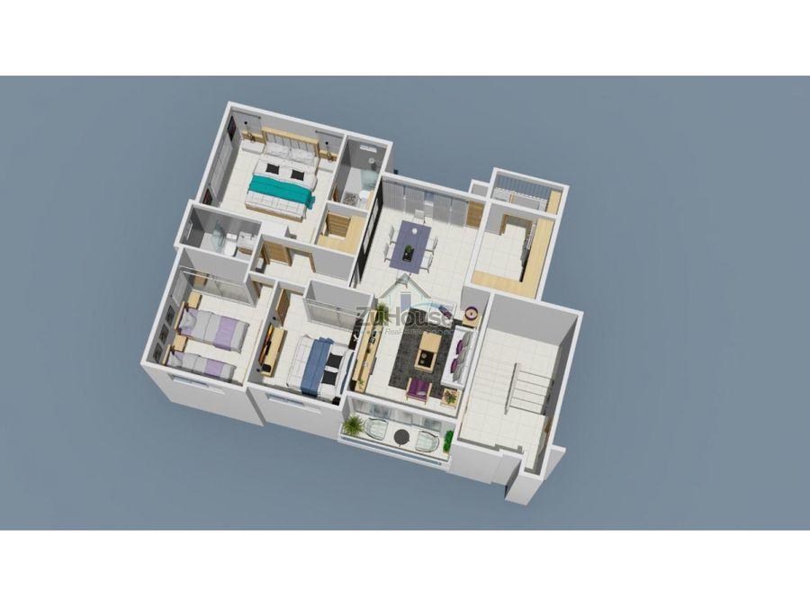 apartamentos en venta en res con gimnasio en tamboril wpa77 c