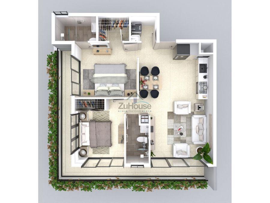 apartamentos en venta en planos en moderna torre de santiago za05a