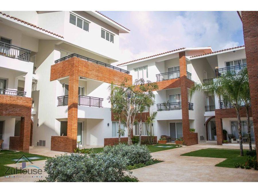 apartamento en venta con amplia terraza en bavaro punta cana wpa97 c