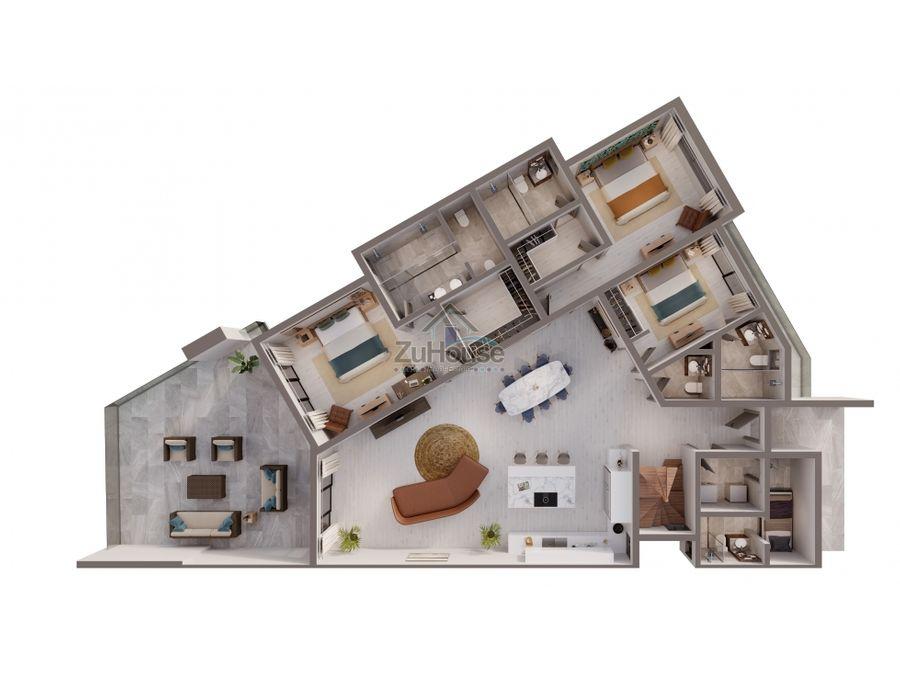 apartamentos en venta en 1era linea de playa en punta cana wpa146 a