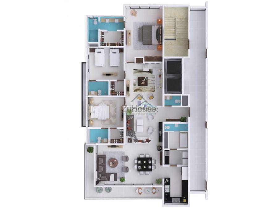 apartamento en venta en lujosa torre en la trinitaria santiago wpa89 a