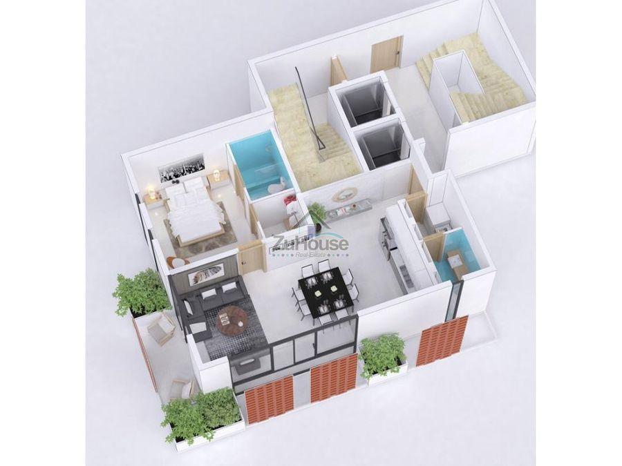 apartamento en venta la esmeralda santiago za11 e