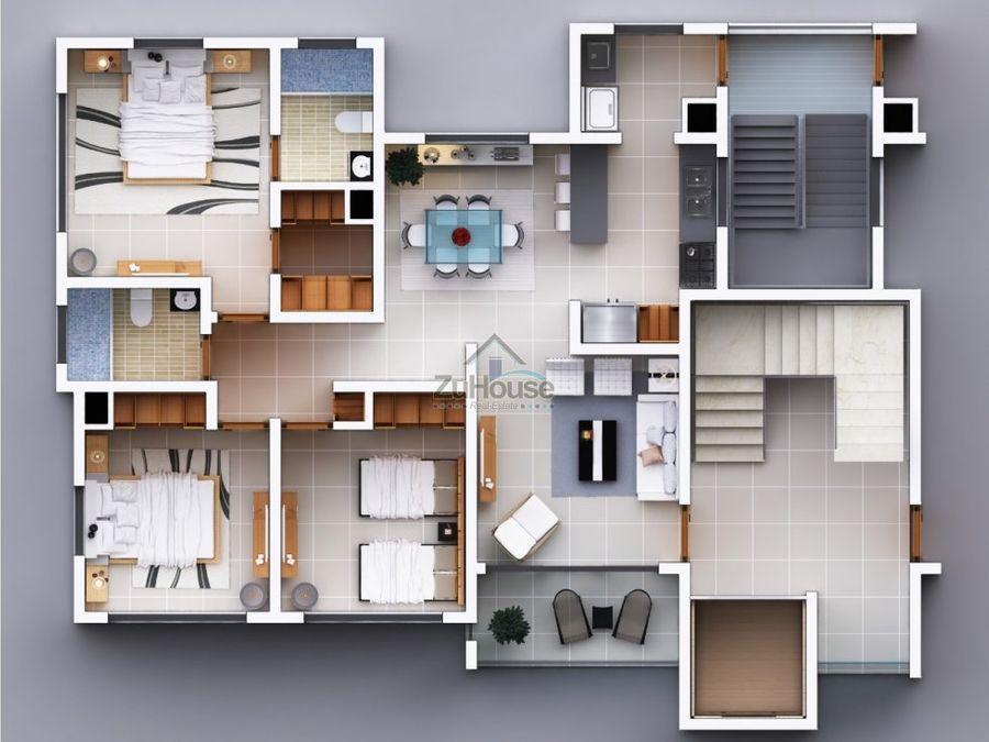 apartamento en venta en santiago de los caballeros wpa50 a