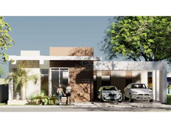 casa con patio en venta en residencial cerrado en santiago wpc20