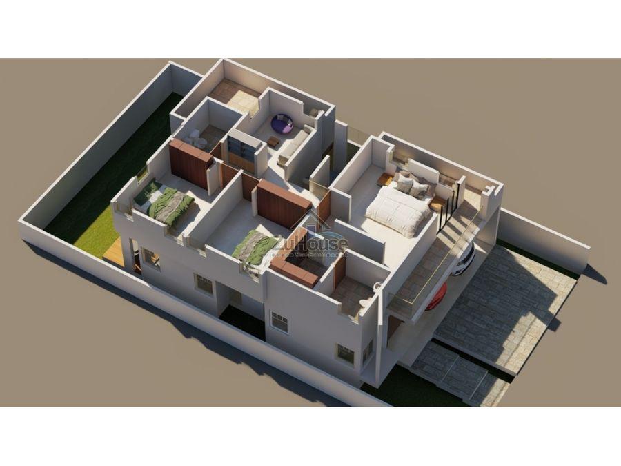 casa en construccion en venta en res cerrado en santiago wpc21