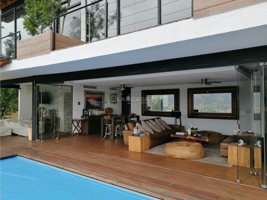 cv lujosa residencia inteligente con vista al lago ml