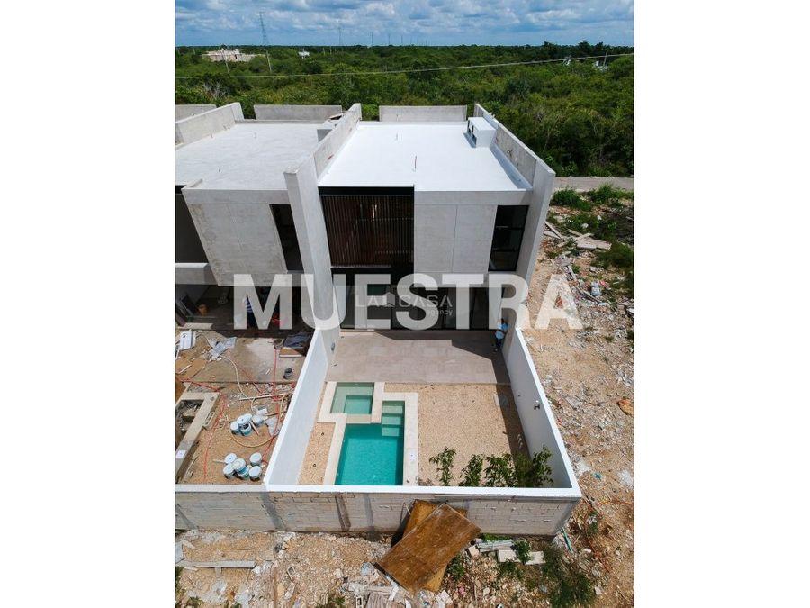 nuevo townhouse con piscina en temozon