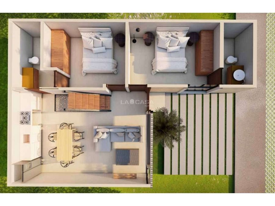 casa tipo villa de 2 habitaciones con amenidades