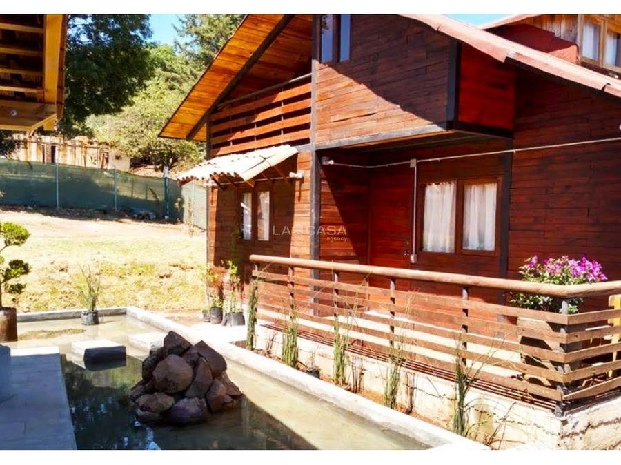 cabana entre la naturaleza para fin de semana