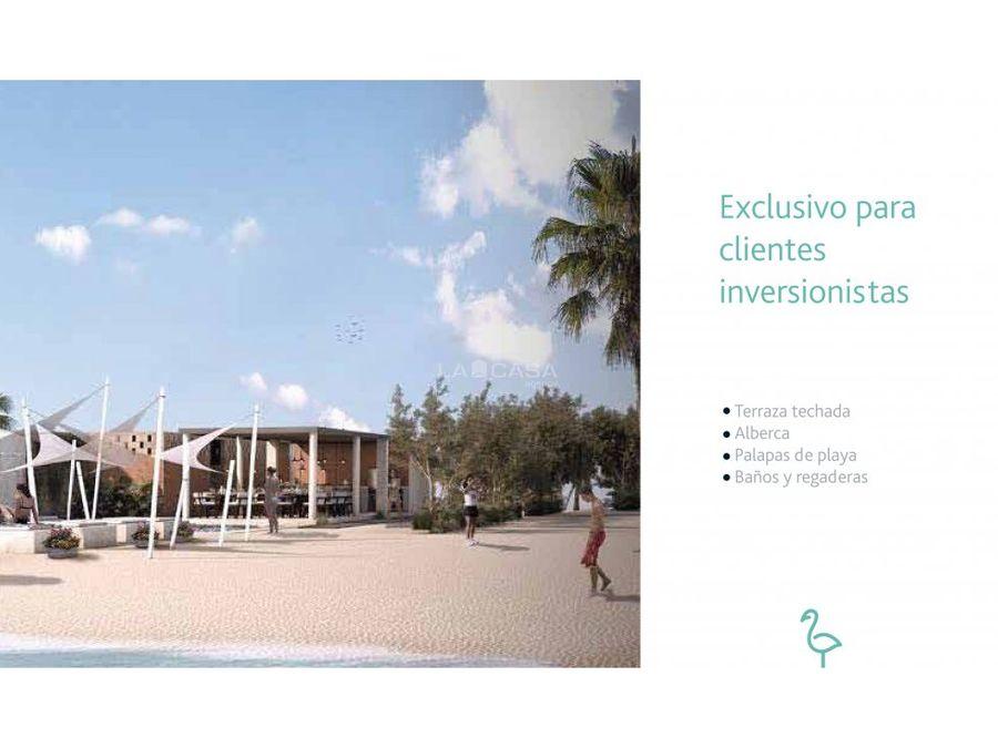 terrenos con club de playa en celestun