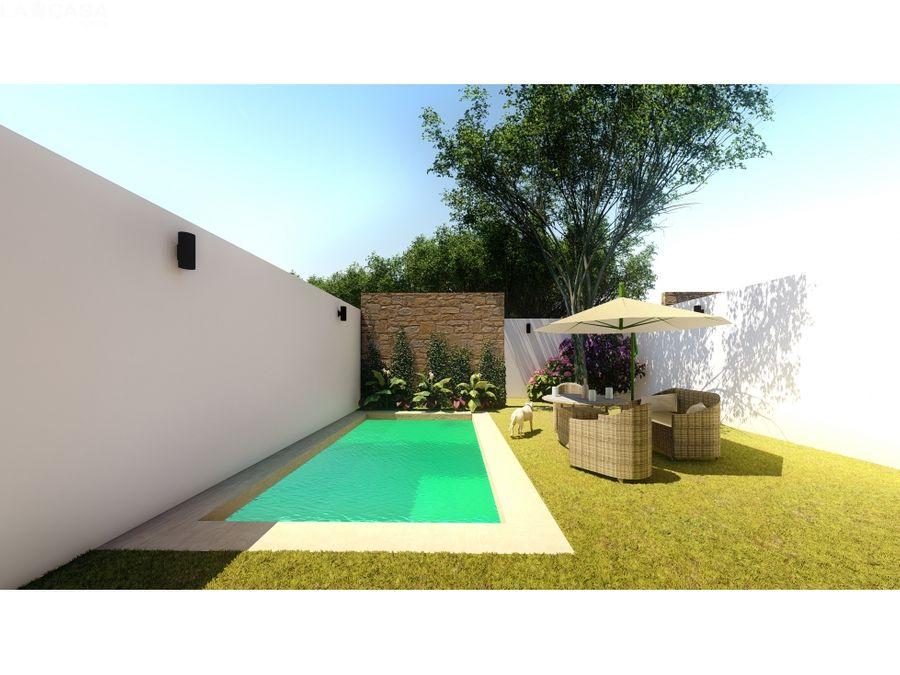 casa de 3 habitaciones con piscina en dzitya