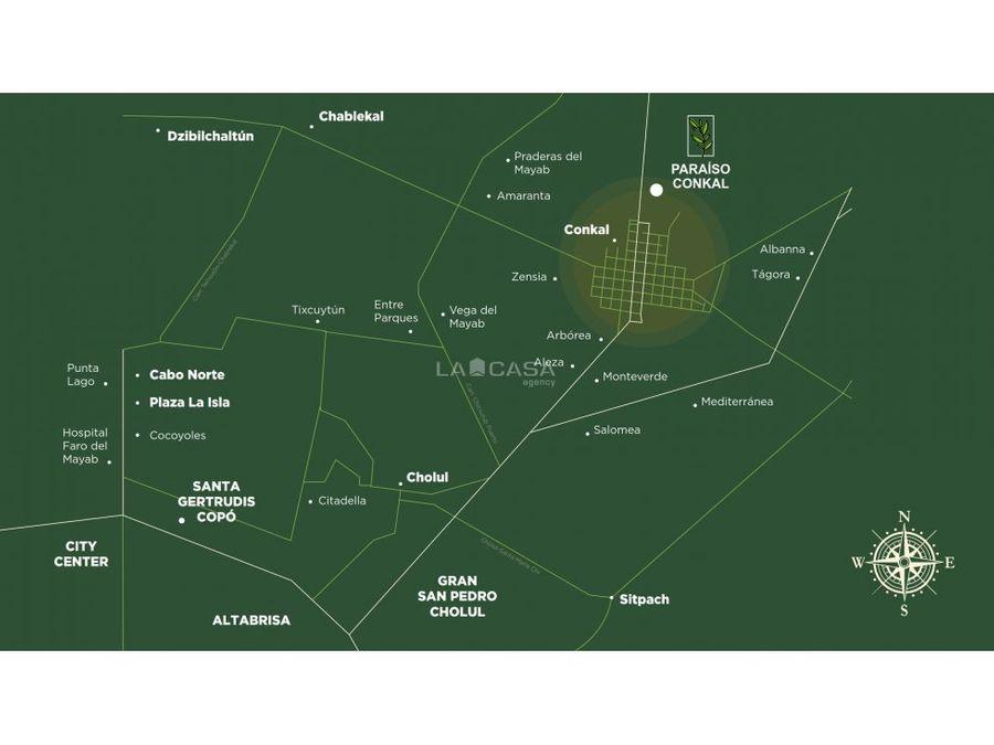 terrenos urbanizados en conkal