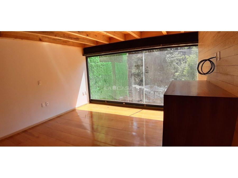 cabana remodelada en avandaro con vista al bosque