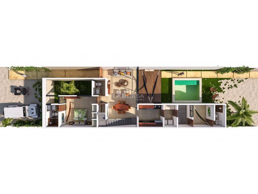 villa en privada de chicxulub puerto