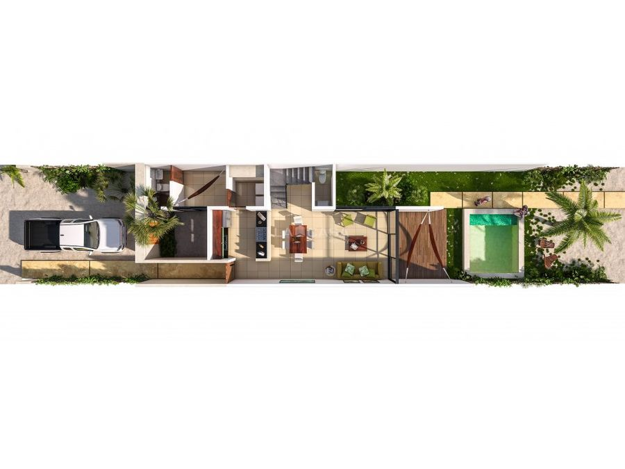townhouses de 2 recamaras en chicxulub puerto