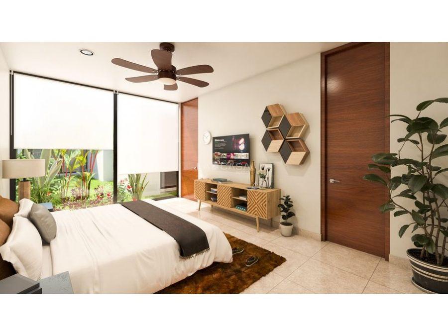 casa de un piso en residencial de conkal