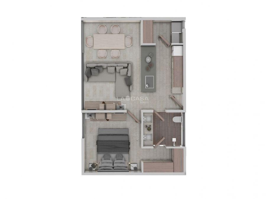 departamento de 1 habitacion con piscina en temozon