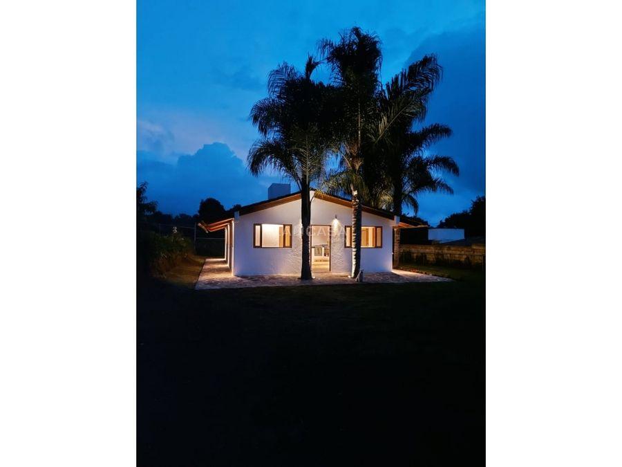 casa en renta en la joya con gran entorno natural