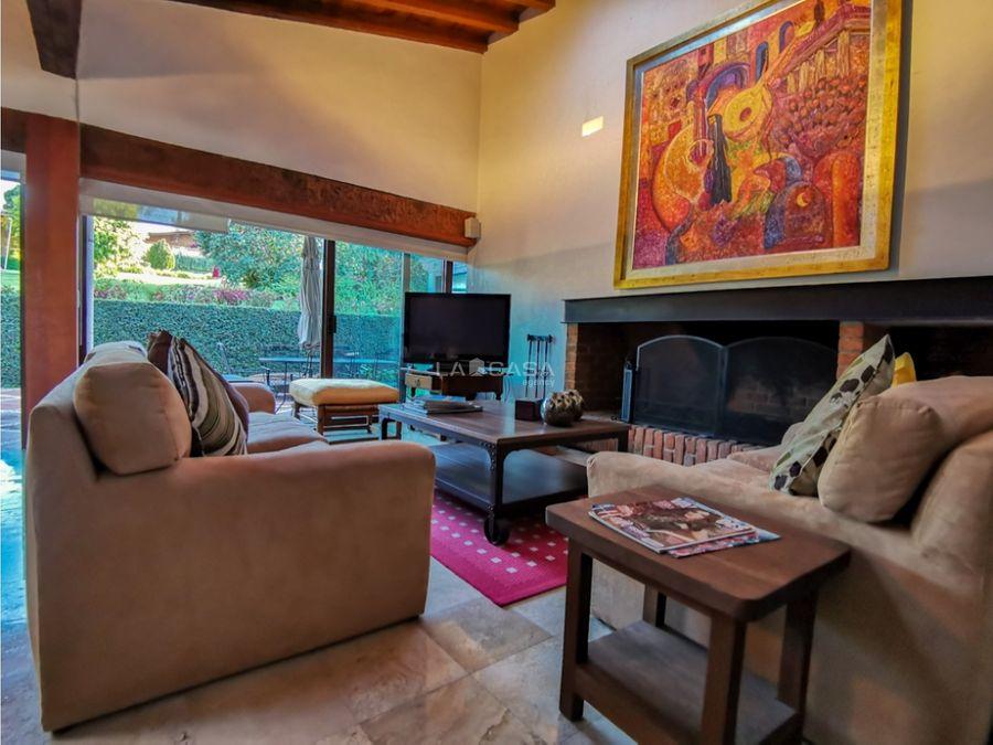 casa para descanso en residencial de avandaro