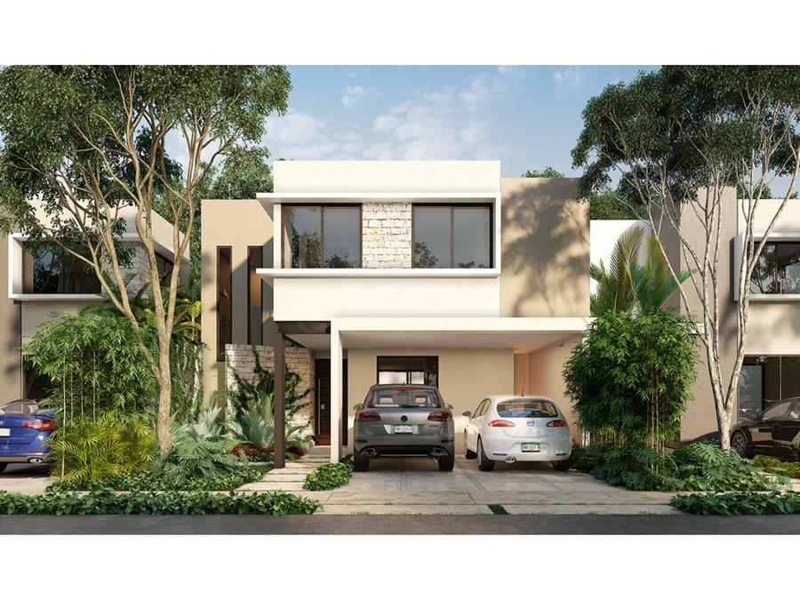 casa de 3 habitaciones en residencial de conkal