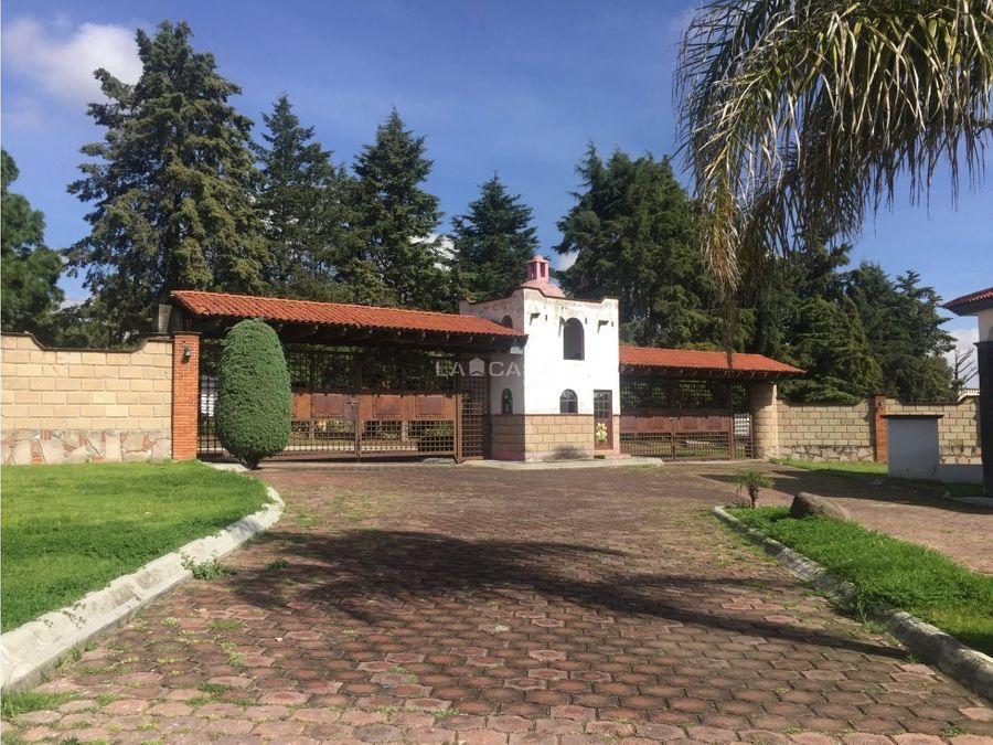amplia casa en venta en carr a zacango