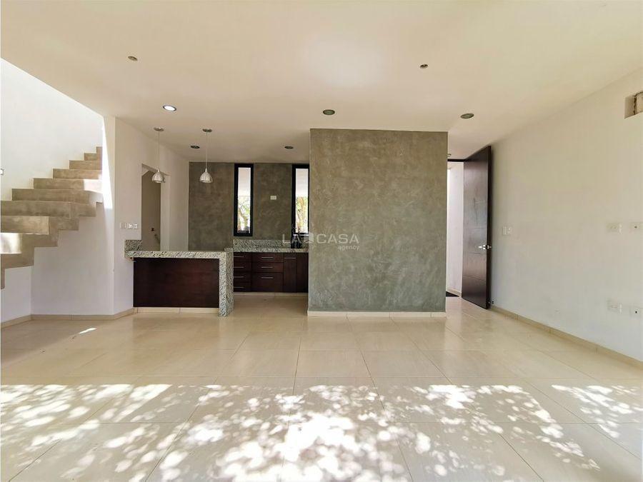 casa de 3 habitaciones con piscina en chuburna