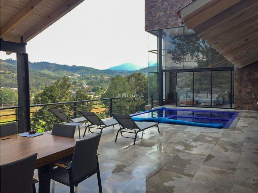 casa en condominio en la pena con acceso al lago valle de bravo