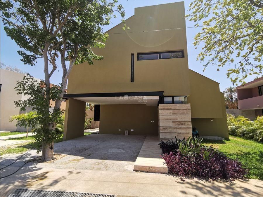 casa nueva tipo villa en chuburna