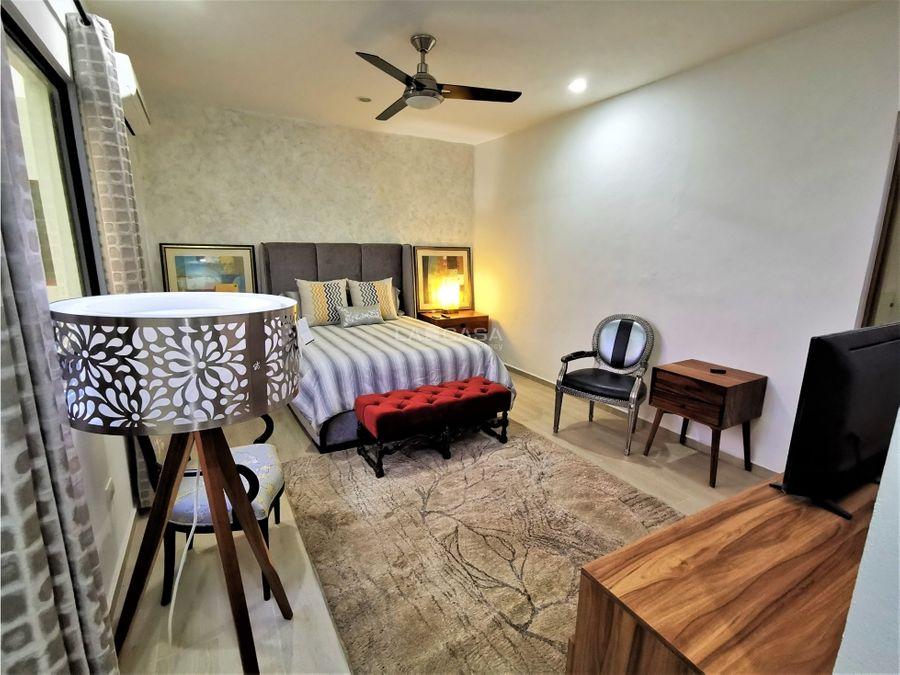 moderna casa de 3 habitaciones totalmente amueblada en privada