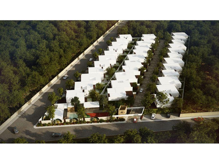casa equipada de 4 habitaciones en residencial de cholul