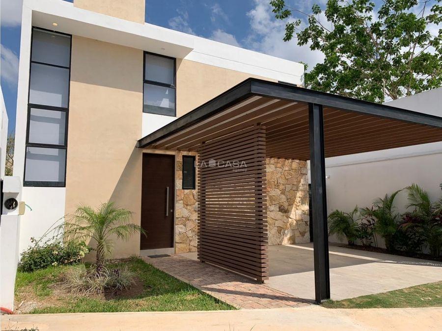 casa equipada de 3 habitaciones en residencial de cholul