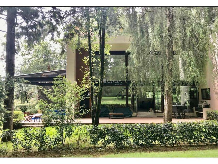 casa moderna en rancho avandaro