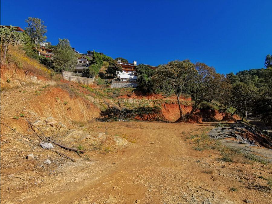 terreno terrazas con vista al lago valle de bravo