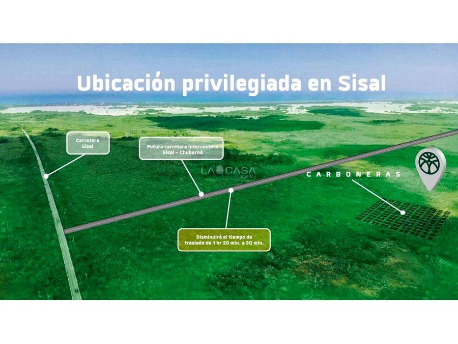 terrenos con ubicacion privilegiada en sisal