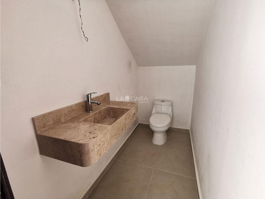 casa de 3 habitaciones en privada con amenidades