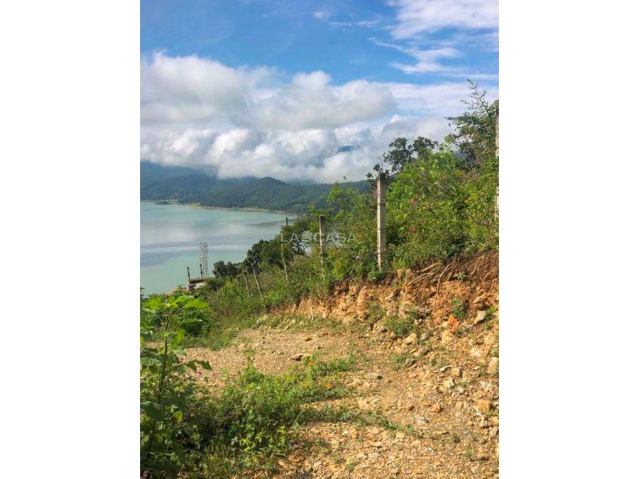 terreno con increible vista al lago valle de bravo